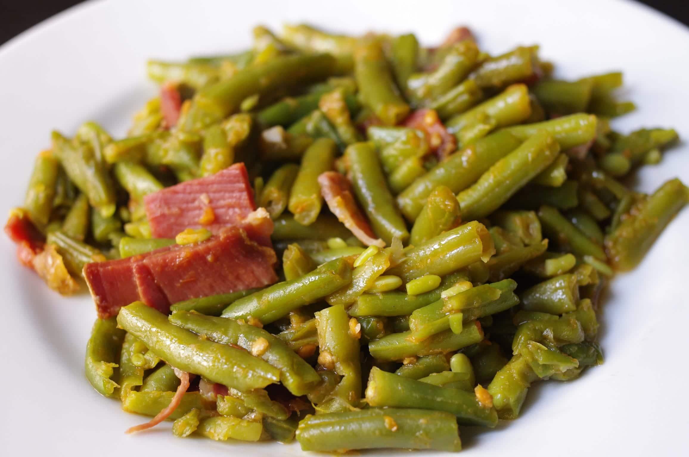Jud as verdes rehogadas con jam n recet n for Cocinar judias verdes de bote