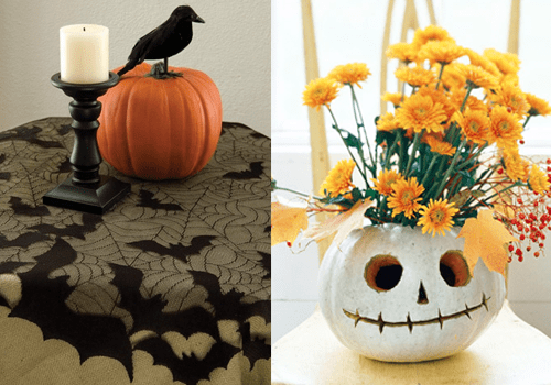 Ideas para decorar la mesa de halloween recet n for Como decorar una calabaza original