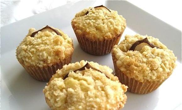 Muffins de manzana para diabéticos