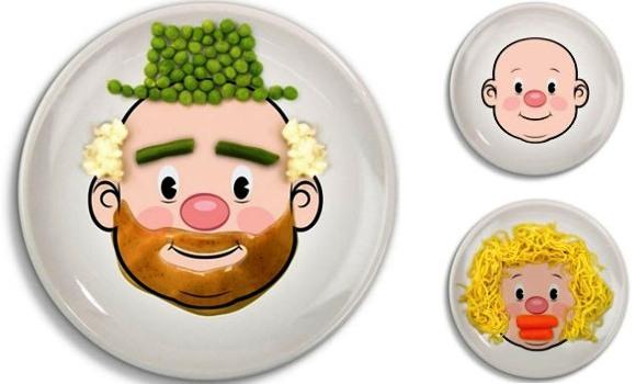 Food Face: Platos para dibujar con la comida