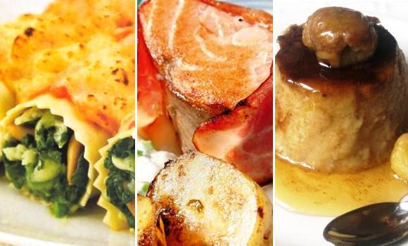 Canelones, salmón y castañas: un menú de lujo y económico