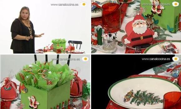 Más ideas para decorar la mesa infantil de Navidad