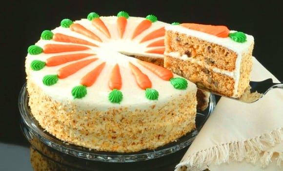 Tarta de zanahorias, sabor y textura especiales