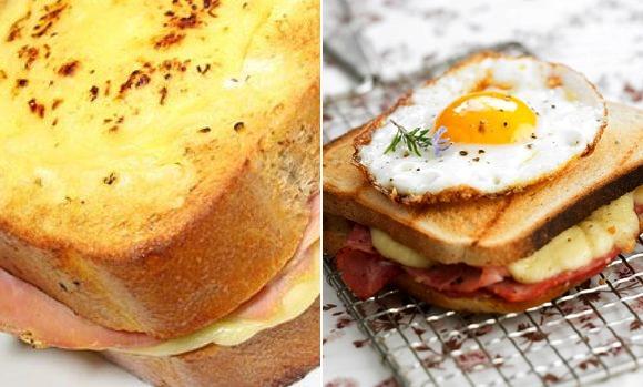 Croque-Monsieur y croque-madame, sandwiches mixtos especiales
