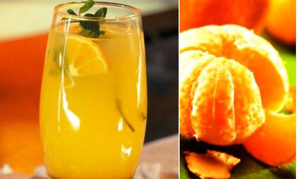 Refresco de mandarina, para empezar bien el día en estas vacaciones