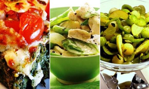 Otro menú verde: Pastel de espinacas, pollo al curry y macedonia