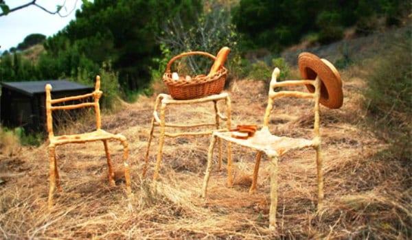 Panpaati, muebles hechos de pan