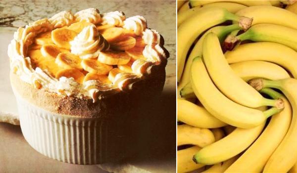 Soufflé de plátano, ¡cómetelo recién sacado del horno!