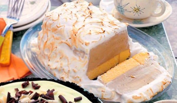 Tarta Alaska: tostada por fuera, helada por dentro