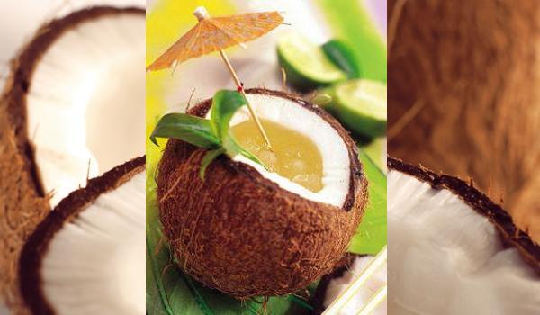 Cóctel de coco y lima, decóralo con los niños