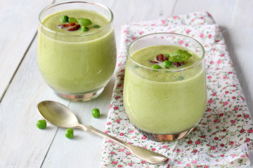 Crema fría de guisantes, ¡no pierdas el verde!