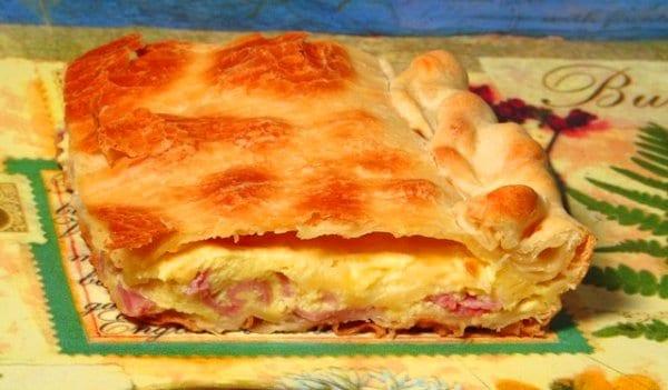 Empanada de jamón y queso, de picnic