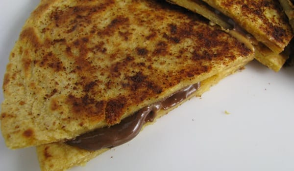 Quesadillas de chocolate