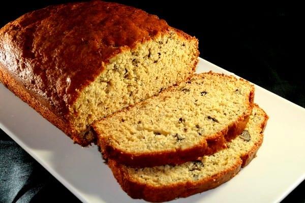 Pan de plátano, banana bread sin leche