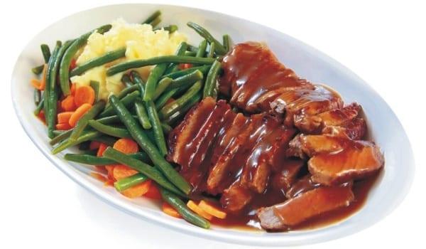 Roastbeef con salsa