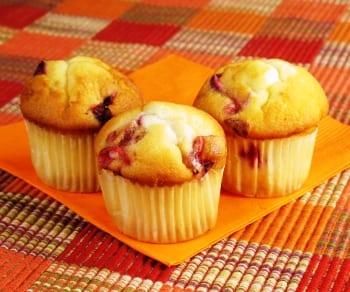 Muffins de naranja y grosellas