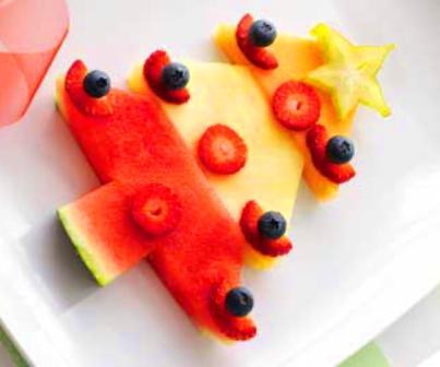 recetas de postres de frutas navideños