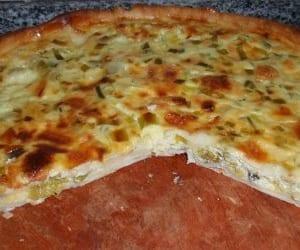 Pastel de puerros y queso
