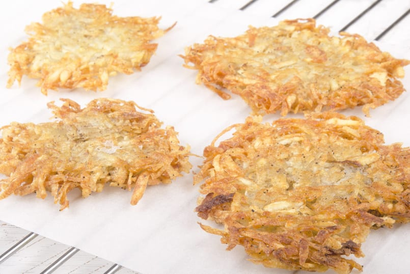 Hash browns o masa de patata frita
