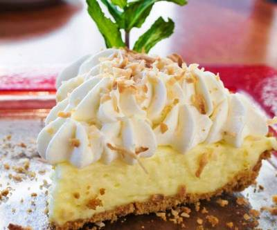 Tarta de coco o coconut cream pie