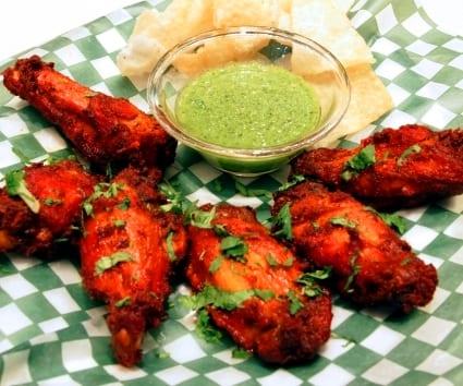 Alitas de pollo al tandoori masala