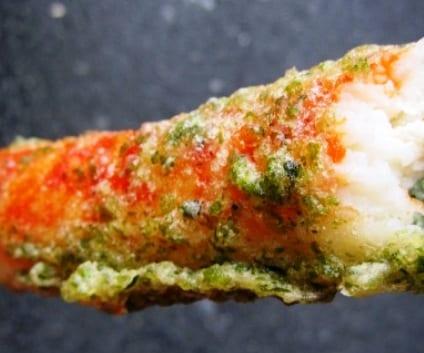 Palitos de cangrejo en tempura de wasabi