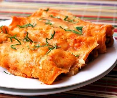 Enchiladas sin carne: vegetal y tal
