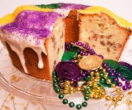 Pound cake de Carnaval al Bourbon