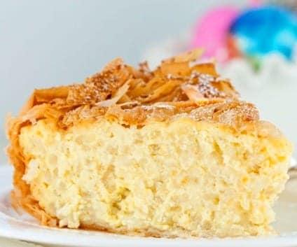 Torta de arroz con topping de…
