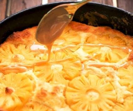 Suflé de piña y dulce de leche ¿o lo acompañas con otra cosa?