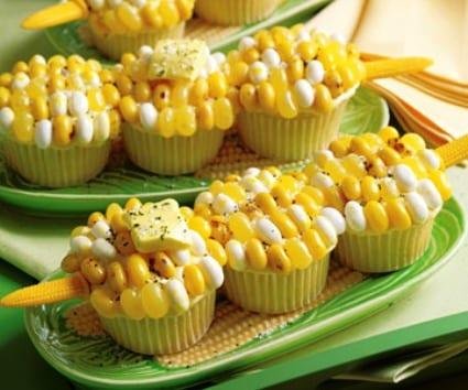 Mazorcas de maíz que son magdalenas