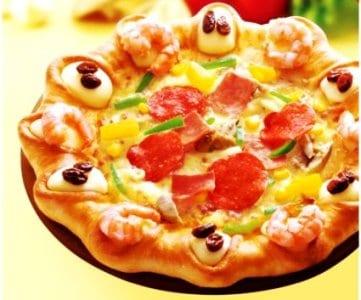 Pizza con sorpresas en el borde