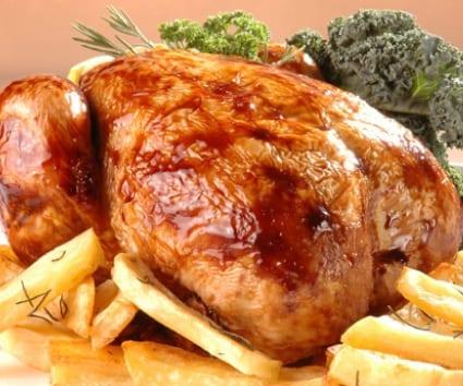 Pollo asado en bolsa, sin ensuciar el horno