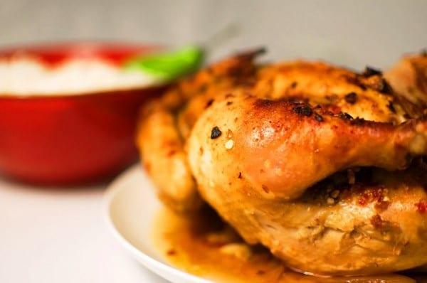 Pollo asado al microondas f cil r pido y econ mico recet n for Cocinar un pollo entero