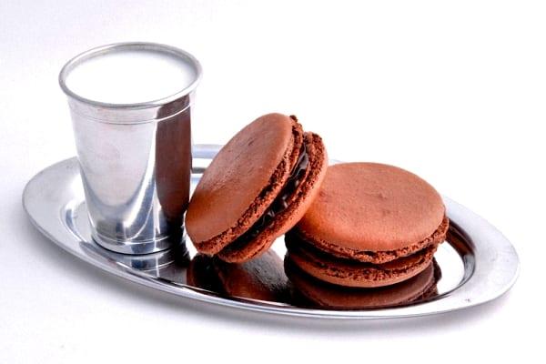 Macarrones de chocolate