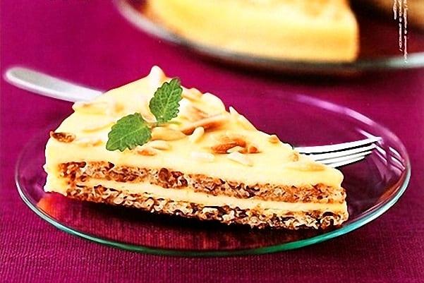 Tarta Mandel o tarta de almendras sueca