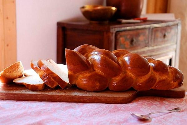Trenza dulce, bollería casera sin huevos