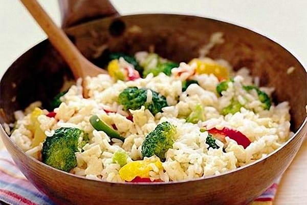 Wok de arroz con verduras recet n - Arroz con pescado y verduras ...