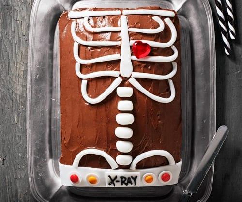 Tarta rayos -X: ¡Feliz noche de Halloween!