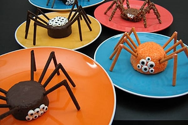 Arañas de chocolate para Halloween
