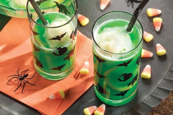 Refresco de kiwi para la noche de Halloween