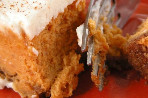 Tarta de queso y calabaza, sin azúcar