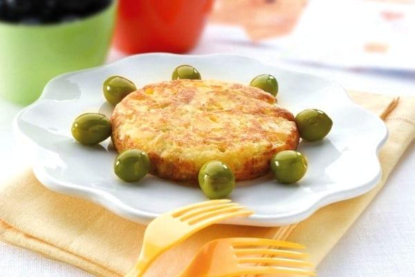 Tortilla de patatas con aceitunas