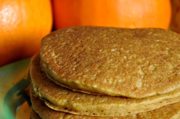 Tortitas de calabaza o pumpkin pancakes
