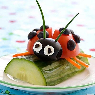 Verduras para niños presentadas originalmente