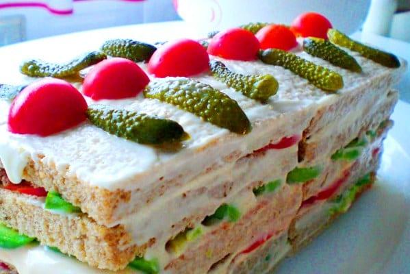 Pastel-sandwich prensado