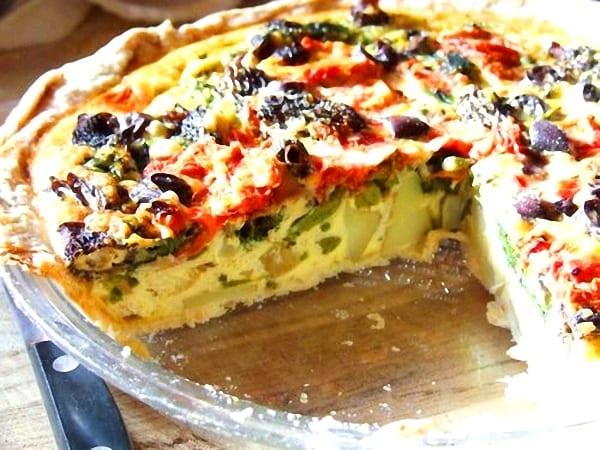 Tortilla + quiche + pizza