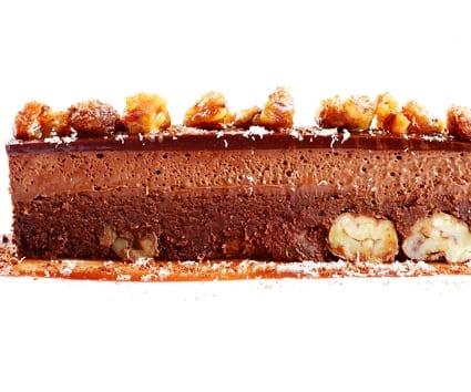 Tarta fría de castañas y chocolate