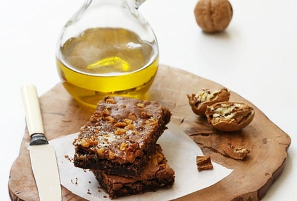 Brownie de chocolate y aceite de oliva