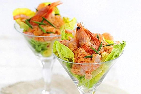 C ctel de gambas y salsa rosa recet n - Coctel de marisco ingredientes ...